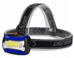 Lanterna cu fixare pe cap reglabila cu LED, unghi de inclinare reglabil si 3 moduri de iluminare, putere 3W