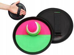 Joc Catch the Ball cu 2 Palete cu Scai si Minge, Culoare Verde/Roz