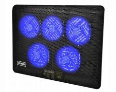 Stand Suport Ventilator Cooler Iluminat pentru Laptop intre 12-17 Inch, Alimentare USB