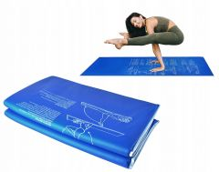 Saltea pliabila din spuma pentru Yoga sau Fitness, culoare Albastru, dimensiuni 170x60x1.5 cm