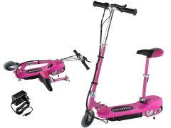 Trotineta electrica pliabila cu Scaun, inaltime ajustabila pentru ghidoane si sezut, culoare Roz