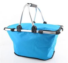 Cos picnic izolat termic cu maner pliabil, culoare Albastru