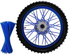 Set ornamente tuburi colorate pentru spite, 80 bucati, lungime 30 cm, culoare Albastru