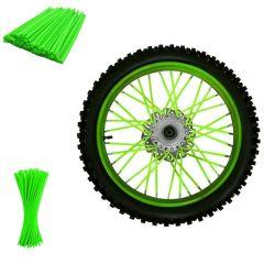 Set ornamente tuburi colorate pentru spite, 80 bucati, lungime 30 cm, culoare Verde