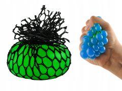 Minge antistres tip strugure Squeeze Ball, culoare Verde