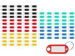 Set 100 brelocuri cu eticheta pentru chei, multicolor