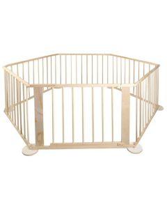 Tarc din lemn pentru animale companie, Pliabil, 6 Panouri, Interior sau Exterior
