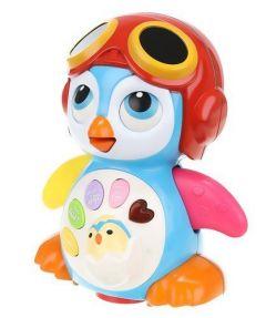 Jucarie Interactiva Pinguin pentru Copii, cu muzica, miscari si butoane cu functii