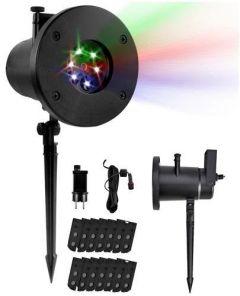 Proiector Laser LED 4 anotimpuri, cu 12 diapozitive interschimbabile, interior/exterior, Negru
