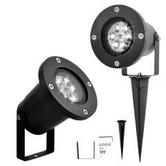 Proiector Laser LED Fulgi de zapada,  Interior/Exterior, Efecte de Lumini Miscatoare, culoare lumina alb