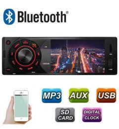 Radio MP3 Player Auto 1DIN cu Display, Telecomanda, USB, Card SD, Bluetooth, Microfon Incorporat, Putere 4x45W