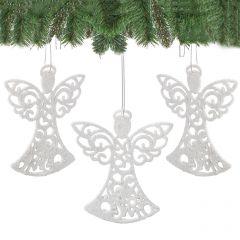 Set figurine decorative ingeras, pentru brad, 10cm, 3 buc