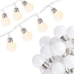 Instalatie decorativa de Craciun LED, 10 led-uri, lumina calda, 2m