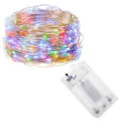 Instalatie luminoasa LED de Craciun, 50 led-uri, 5m, multicolor