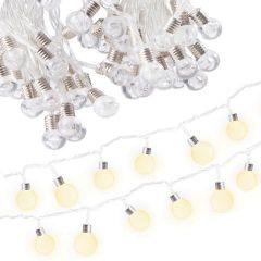 Instalatie decorativa de Craciun LED, 20 led-uri, lumina calda, 5m