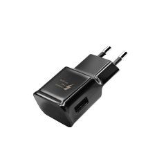 Incarcator retea universal cu 1 x USB, culoare Negru