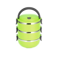 Caserola Termica Lunch Box pentru Mancare, Capacitate 2,1L, Mentine Mancarea Calda, culoare verde