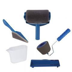 Set Trafaleti Paint Roller cu Rezervor Incorporat, Manere Pliabile + Accesorii Vopsit