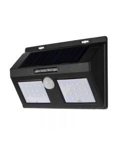 Lampa Solara Dubla de Perete cu 48 LED-uri si Senzor de Lumina, 600 Lumeni