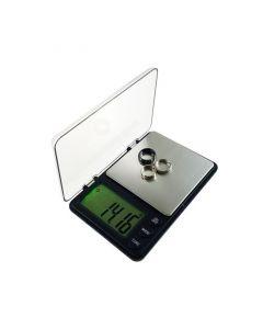 Mini cantar electronic de buzunar pentru bijuterii cu afisaj LCD, capacitate pana la 1000g