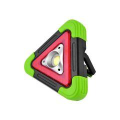 Triunghi reflectorizant iluminat LED cu incarcare solara sau prin USB, luminozitate reglabila