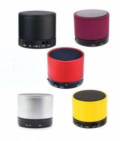 Boxa Portabila Wireless cu Bluetooth, FM, USB, Slot Micro SD, AUX + microfon incorporat si LED, culoare Argintiu