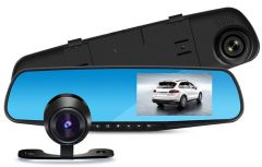 Camera Video auto Full HD 1080 DVR cu oglinda retrovizoare si display afisaj