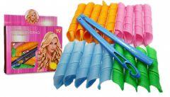 Set 18 bigudiuri spiralate multicolore, ideale pentru bucle, Magic Leverag