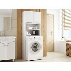 Dulap pentru baie cu loc pentru masina de spalat, model Pola, culoare alb