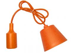 Corp iluminat lampa suspendata, dulie E27, culoare Galben, Lungime 1m