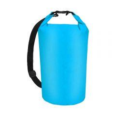 Sac Impermeabil tip Rucsac, Inchidere cu Catarama, pentru Drumetii sau Sporturi pe Apa, Volum 20L, Albastru
