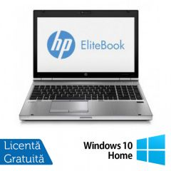 Laptop Reconditionat HP EliteBook 8570p, Intel Core i5-3320M 2.60GHz, 4GB DDR3, 320GB SATA, DVD-RW + Windows 10 Home