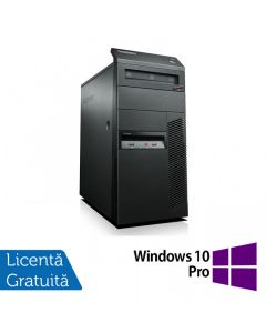 Calculator Reconditionat Lenovo Thinkcentre M91p Tower Intel Core i7-2600 3.40GHz up to 3.80GHz 4GB DDR3 120GB SSD DVD-RW + Windows 10 Pro