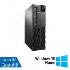 Calculator Reconditionat Lenovo ThinkCentre M92p SFF, Intel Core i3-3220 3.30GHz, 4GB DDR3, 240GB SSD, DVD-RW + Windows 10 Home
