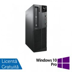 Calculator Reconditionat Lenovo ThinkCentre M92p SFF, Intel Core i3-3220 3.30GHz, 4GB DDR3, 120GB SSD, DVD-RW + Windows 10 Pro