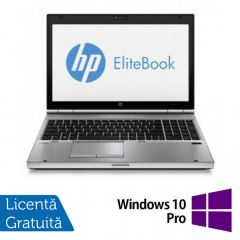 Laptop Reconditionat HP EliteBook 8570p, Intel Core i5-3320M 2.60GHz, 8GB DDR3, 320GB SATA, DVD-RW + Windows 10 Pro