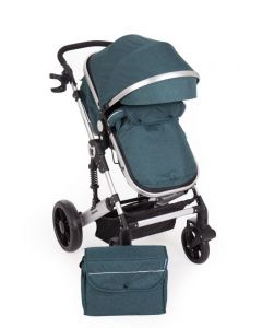Carucior transformabil 2 in 1 Darling Green Silver