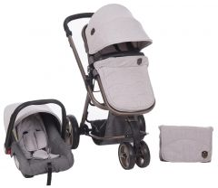 Carucior transformabil 3 in 1 Amica Grey