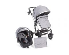 Carucior transformabil 3 in 1 Darling Dark Grey