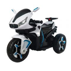 Motocicleta electrica pentru copii Star White