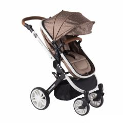 Carucior transformabil 2 in 1 Dotty Brown