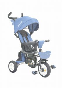 Tricicleta pliabila cu sezut reversibil Bebe Royal Milano Albastru