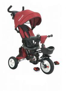 Tricicleta pliabila cu sezut reversibil Bebe Royal Milano Rosu