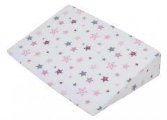Perna plan inclinat alba cu stelute roz