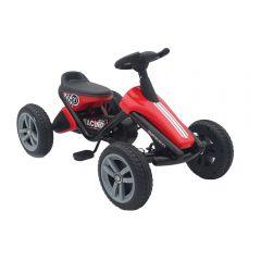 Kart cu pedale cu roti din cauciuc EVA Go Kart Racing Red