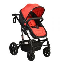 Carucior transformabil 2 in 1 Moni Pavo Red