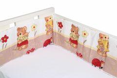 Aparatori laterale pentru pat Ursuletul fericit crem