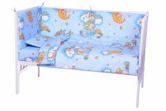 Lenjerie patut cu 5 piese Sleepy Teddy Bear Blue 006