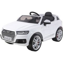 Masinuta electrica cu scaun de piele Audi Q7 White