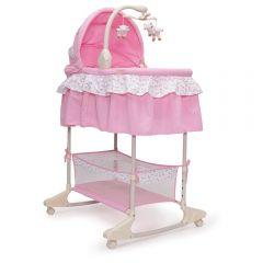 Patut leagan cu vibratii si muzica pentru bebelusi Nap Pink